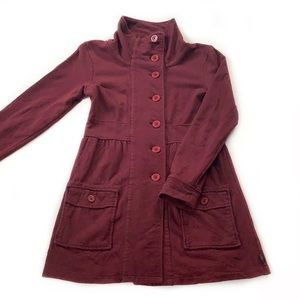 PrAna • Burgundy Long Cotton Jacket